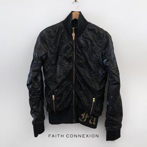 FAITH CONNEXION Black Bomber High Collar Jacket M
